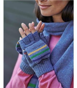 Stripe Capped Fingerless Glove