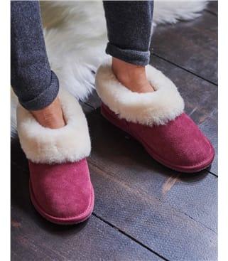 Short Sheepskin Slipper Boot