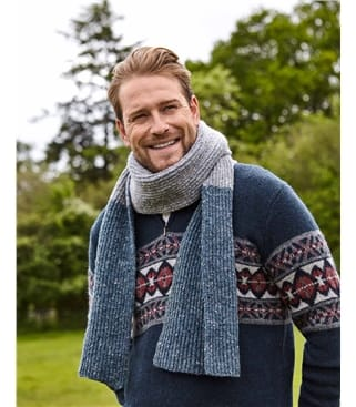 Mens Donegal Tweed Scarf