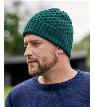 Mens Cable Knit Hat