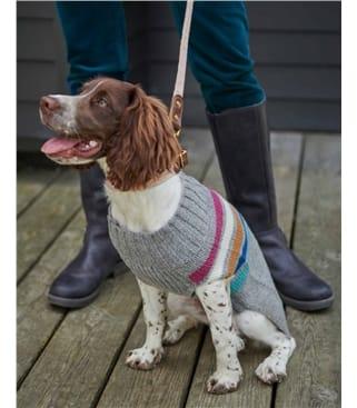 Lambswool Stripe Knit Dog Jumper