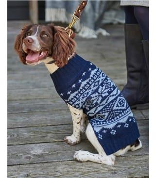 Lambswool Fairisle Knit Dog Jumper