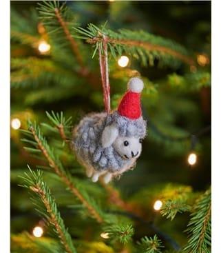 Deko-Schaf mit Weihnachtsmütze