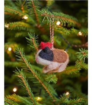 Gina the Guinea Pig Christmas Decoration