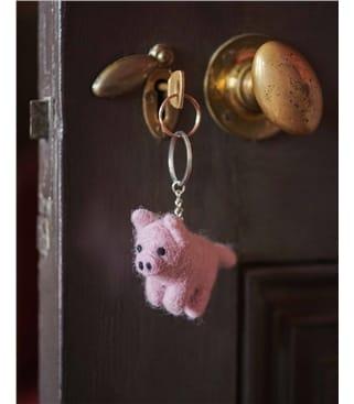 Schlüsselanhänger aus Filz - Penelope das Schwein