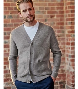 Cashmere and Merino V Neck Cardigan