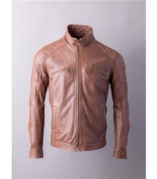 Hardknott Leather Biker Jacket
