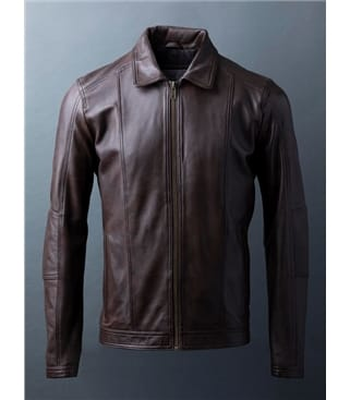 Rothay Collared Leather Jacket