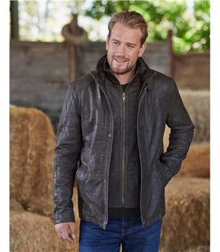 Skelwith Leather Coat