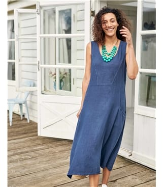 Womens Pocket Pinafore Dress