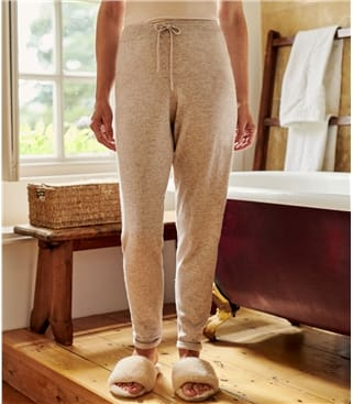 Womens Cashmere & Merino Luxe Lounge Joggers