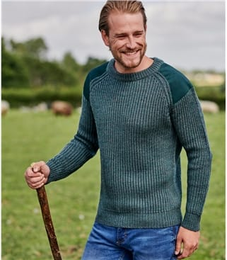 Mens Pure Wool Countryman Sweater
