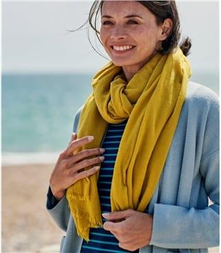 Gewebter Schal aus Yakwolle für Damen