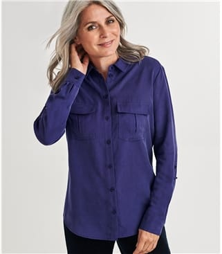 Chemise poches plaquées - Femme - Lyocell