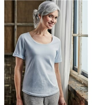 Organic Cotton Scoop Neck Tshirt