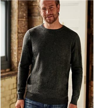 Pure Lambswool Knitted Crew Neck Sweater