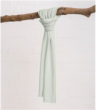 Image of Cashmere and Merino Luxurious Soft Touch Scarf 1size Cool Mint