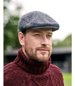 Flache Kappe mit Schottenmuster aus reiner Wolle für Herren