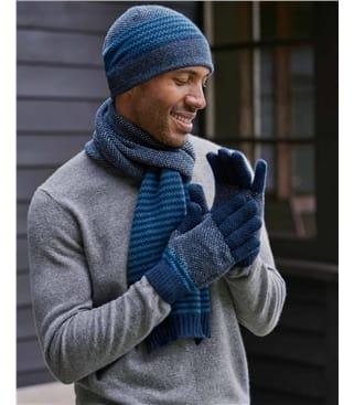 Mens Stitch and Stripe Glove