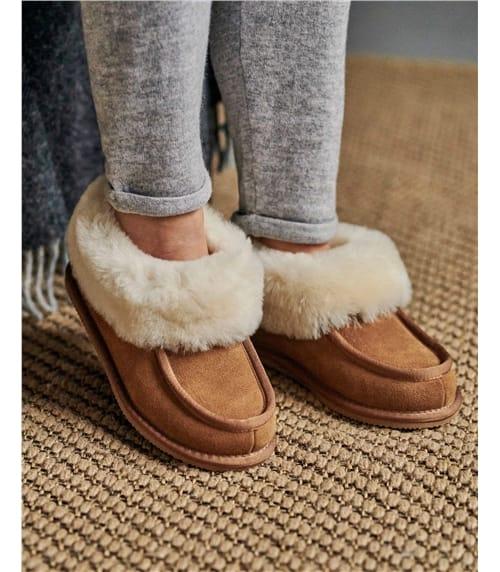 Chaussons bottes confort - Femme - Peau de mouton