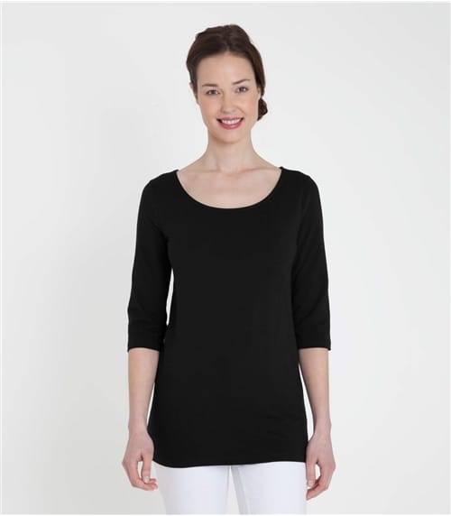 Womens Jersey 3/4 Sleeve Tunic