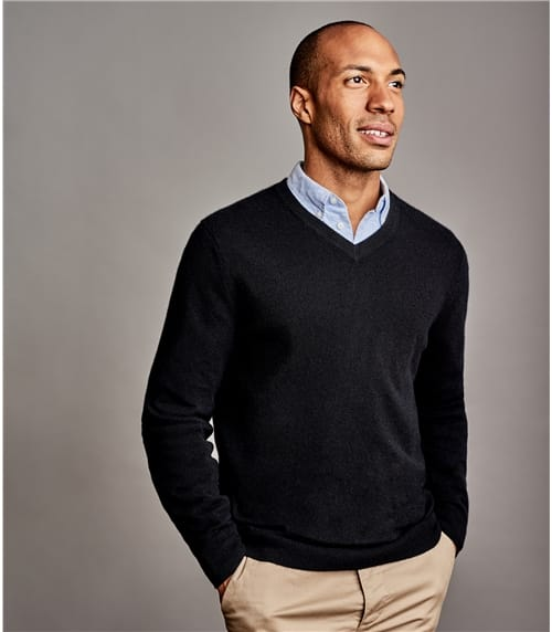 Pure Cashmere V Neck Sweater