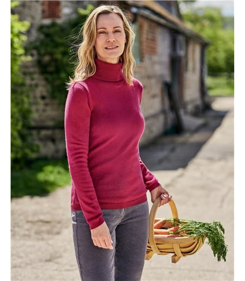 Cashmere and Merino Fitted Turtle Neck Knitted Sweater