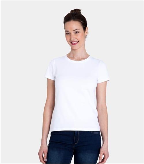 T-shirt à manches courtes et col rond - Femme - Jersey