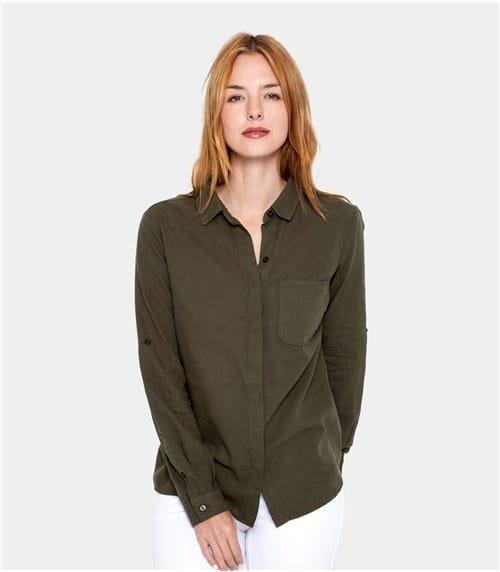 Womens Linen and Cotton Shirt