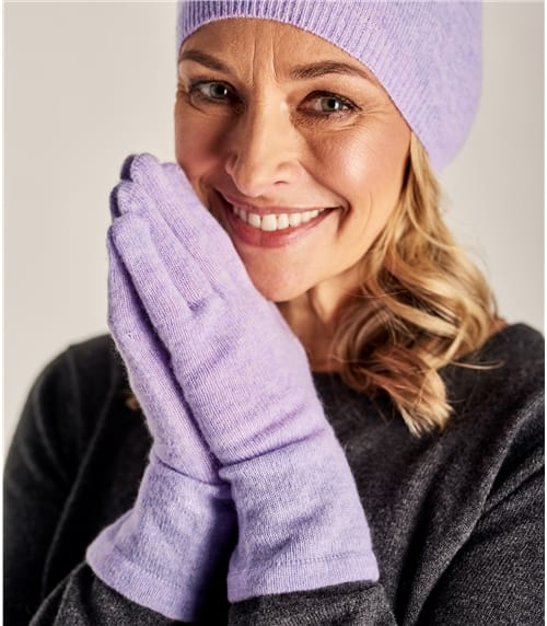 Womens Pure Cashmere Gloves