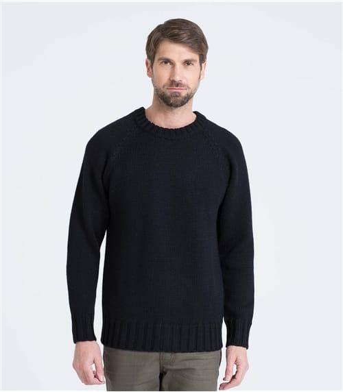 Seemanns-Pullover mit Rundhalsausschnitt aus reiner Wolle für Herren