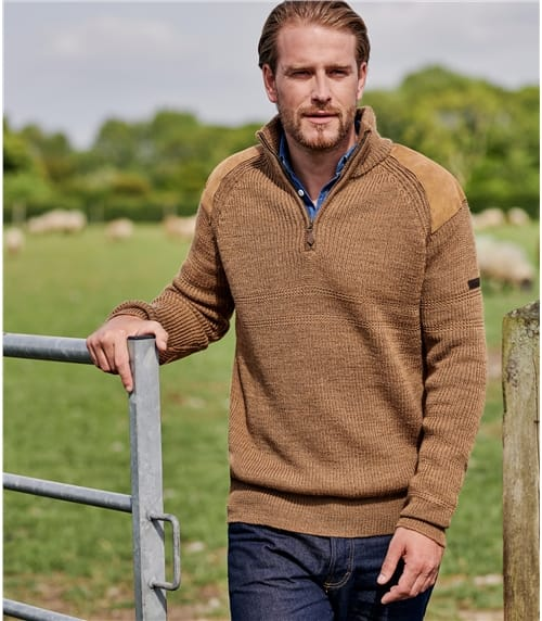 Mens Pure Wool Hill Walker Sweater