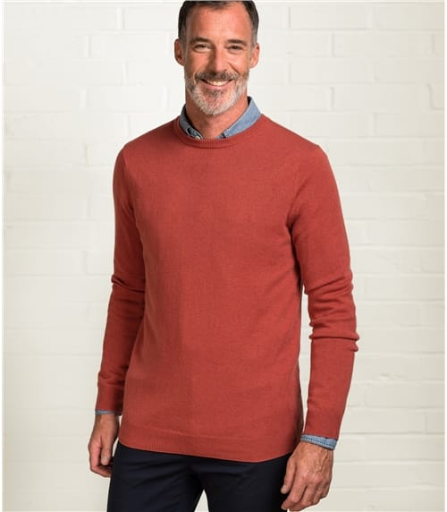 Mens Cashmere and Merino Crew Neck Jumper
