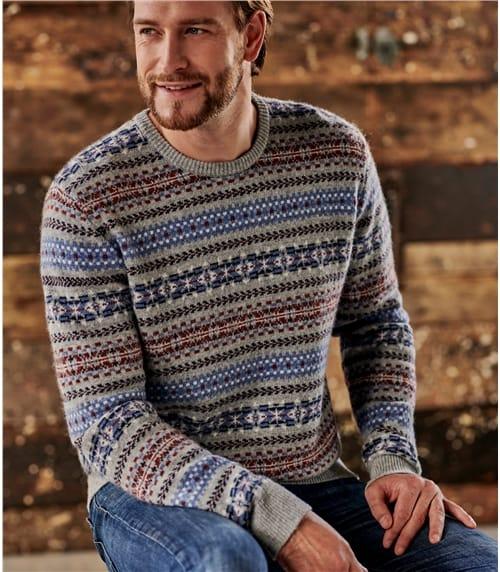 Pullover mit Fair Isle-Muster für Herren