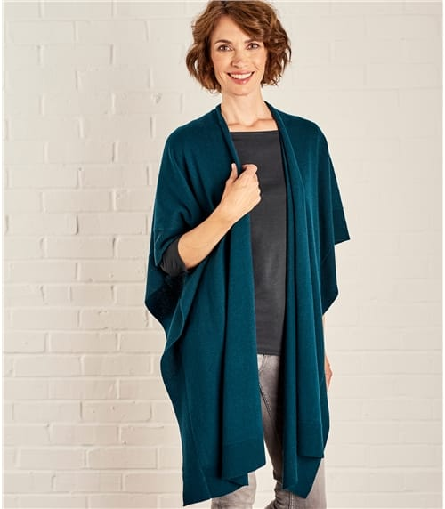 Womens Cashmere and Merino Blanket Wrap
