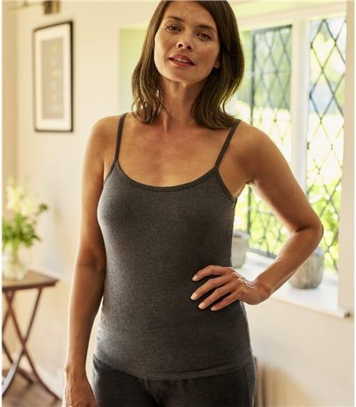 Jersey Trägershirt aus Baumwolle mit geringem Elastananteil für Damen