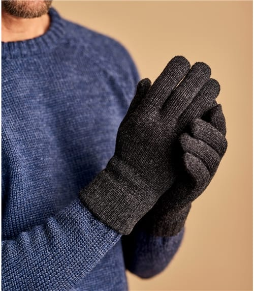 Mens Essential Lambswool Gloves