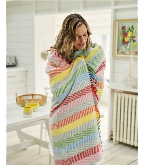 Pure Wool Stripe Throw