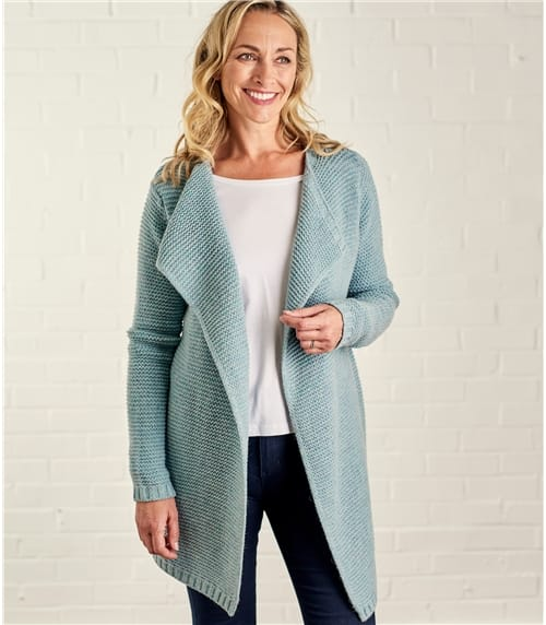 Womens Lambswool Pin Coatigan