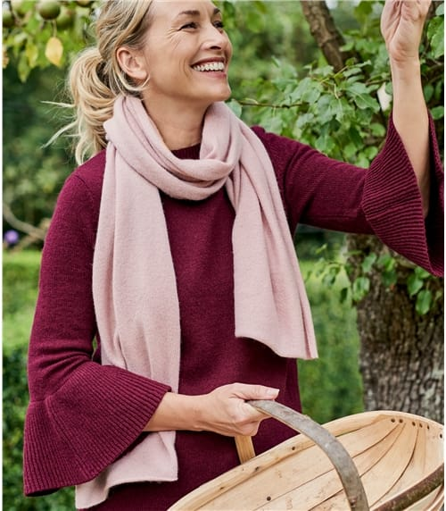 Womens Luxurious Pure Cashmere Scarf