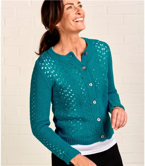 Womens Open Lace Cardigan