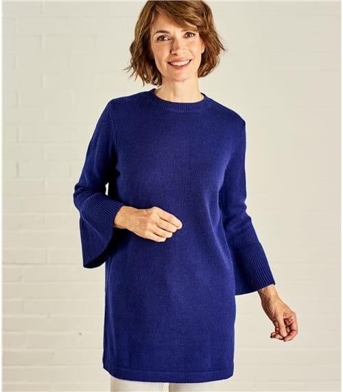 Womens Peplum Sleeve Tunic