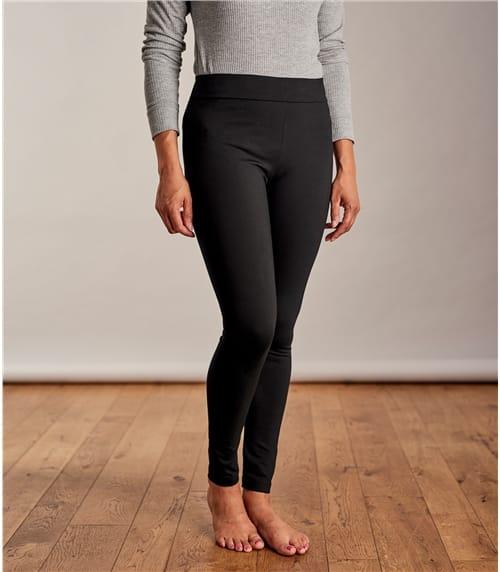 Körperformende Jersey Leggings aus Viskose mit geringem Elastananteil für Damen