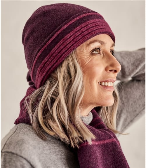 Womens Two Color Stripe Hat