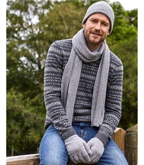 Bonnet côtelé luxueux - Homme - Pur Cachemire