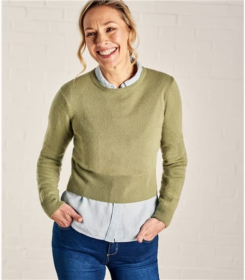 Womens Cropped Sweater