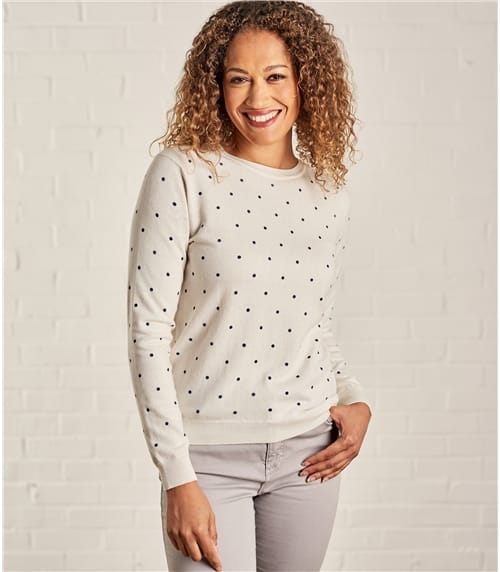 Womens Wool Blend Spot Jumper