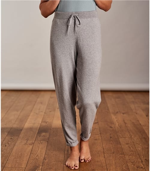 Womens Cashmere Cotton Relaxed Joggers