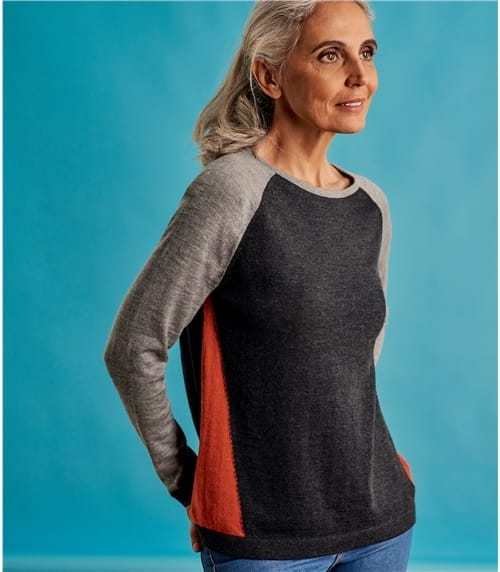 Womens Sporty Colourblock Jumper