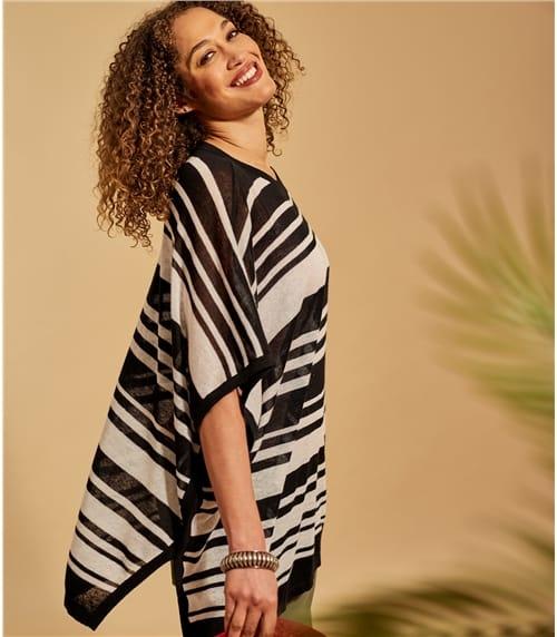 Tunique ample à rayures - Femme - Ramie & Viscose
